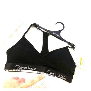 Calvin Klein Motive Cotton Lightly Lined Bralette
